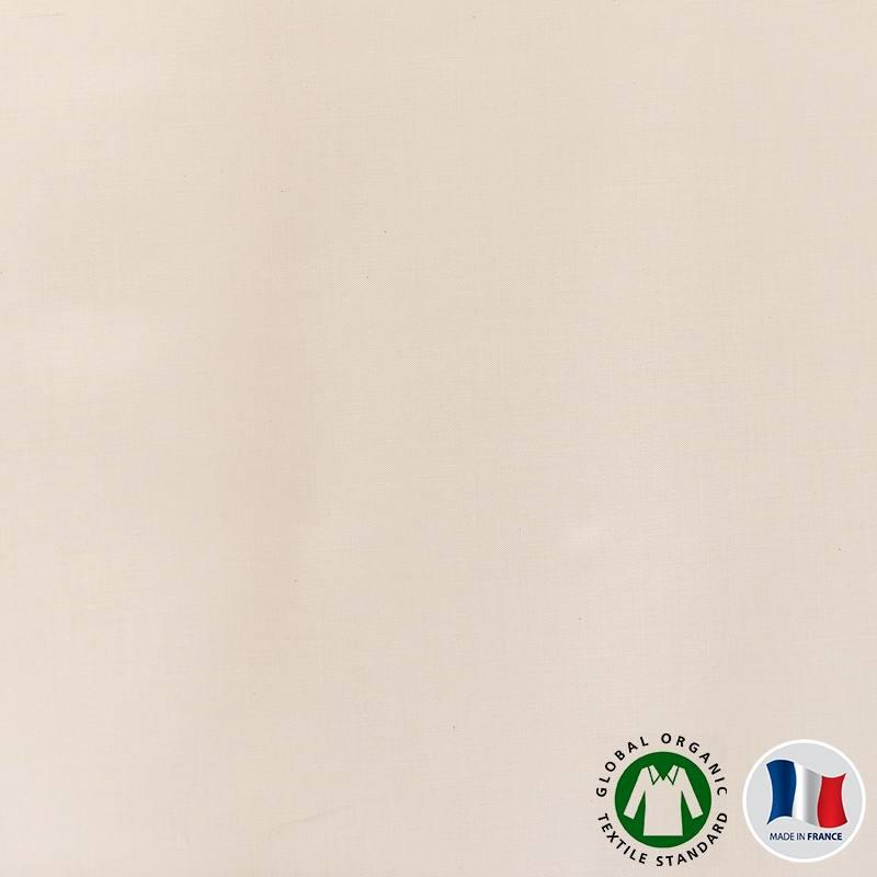 Satin de coton bio naturel grande largeur