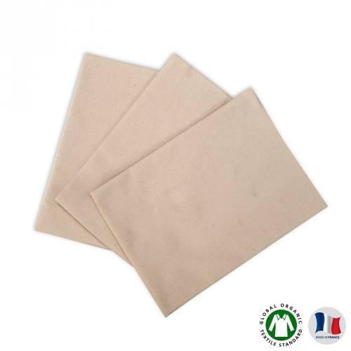 Coupon 50x70 cm de Flanelle de coton bio naturelle