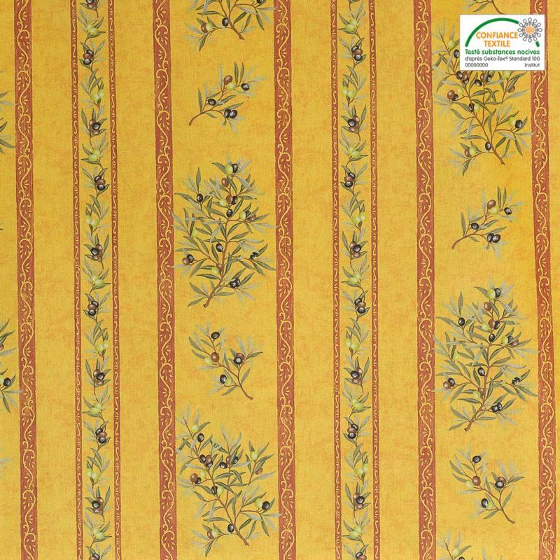 tissu proven al jaune clos des oliviers. Black Bedroom Furniture Sets. Home Design Ideas