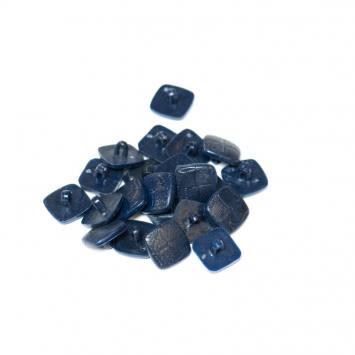 Lot d'environ 70 boutons bleu marine carrés 15 mm