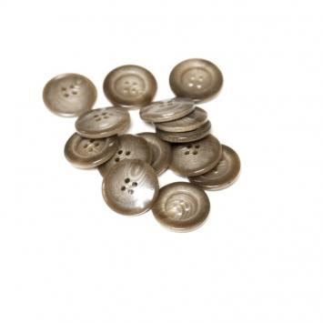 Lot d'environ 40 boutons châtains dégradés 25 mm