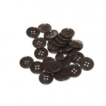 Lot d'environ 120 boutons bruns 18mm