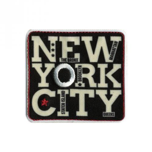 "Écusson ""NYC"" thermocollant noir"