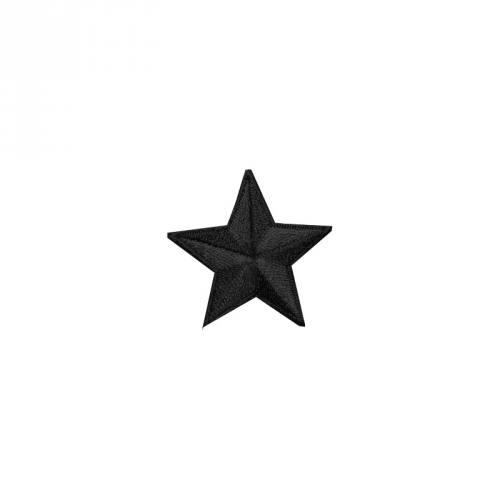 """Écusson brodé """"Étoile"""" thermocollant noir"""