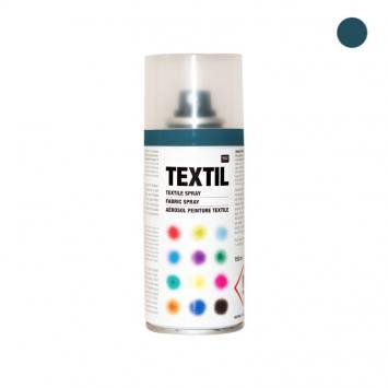 Bombe de peinture textile bleu pétrole 150ml