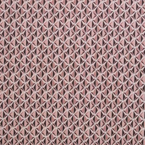 Coton rose imprimé kirigami