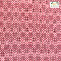Coton imprimé éventails rouge et or