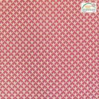 Coton imprimé écailles rouges et or