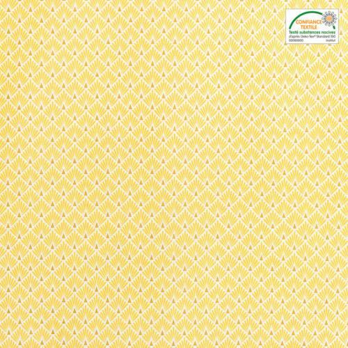 Coton imprimé écailles jaunes et or