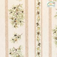 Tissu provençal écru Clos des oliviers