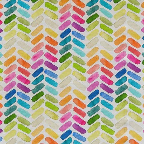 Toile coton impression numérique peinture multicolore