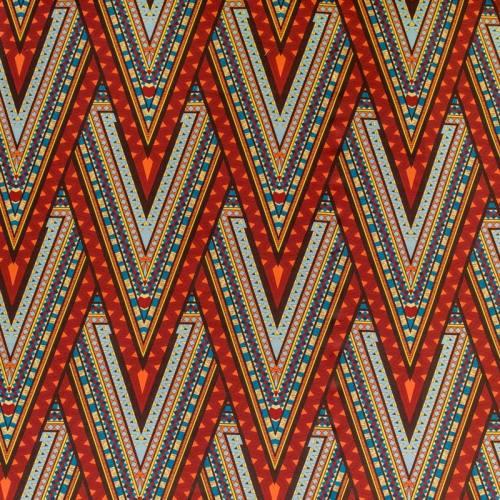 Toile coton impression numérique wax multicolore