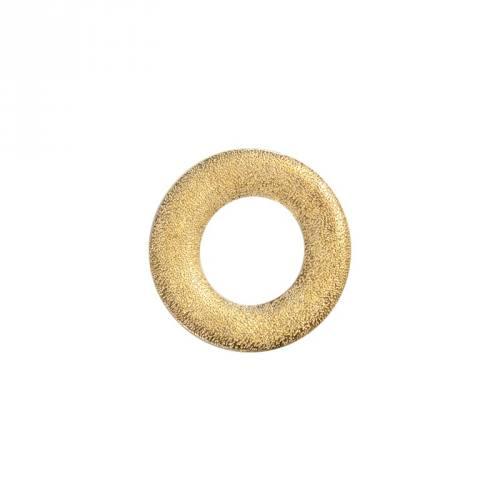 Anneau métal plat or