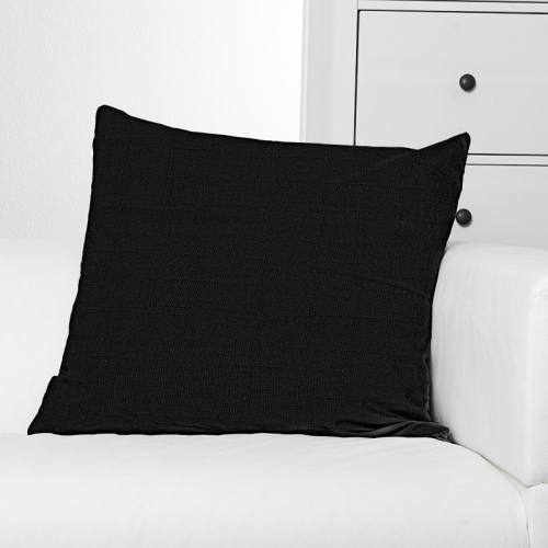 Toile polyester aspect lin noir