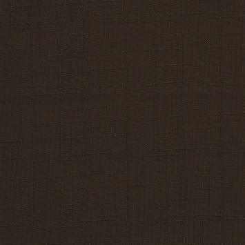 Toile polyester aspect lin brun