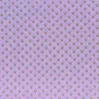 Tissu molleton French Terry chiné violet imprimé couronnes