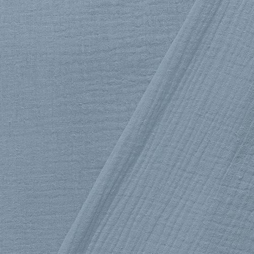 Double gaze unie bleu gris