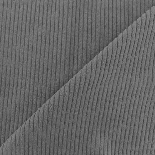 Velours côtelé gris