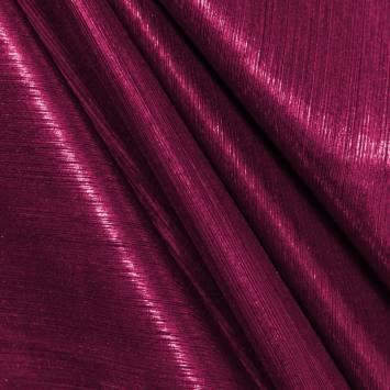Maille lurex côtelé fuchsia