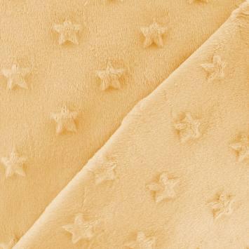 Minky jaune relief étoiles