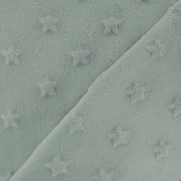 Minky vert relief étoiles