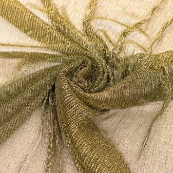 Résille dorée plisée à paillettes