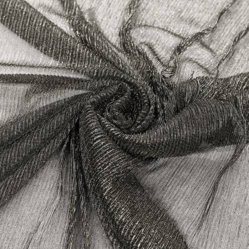 Résille argentée plissée à paillettes