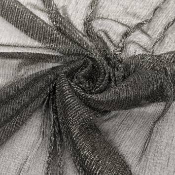 Résille argentée plisée à paillettes