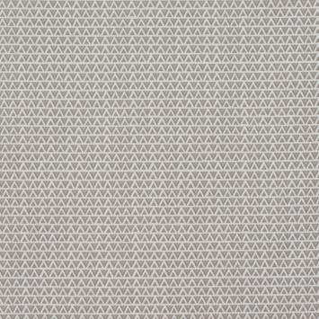 Coton blanc imprimé petit tipi taupe