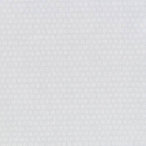 Coton gris perle motif fleurs sowi