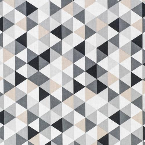 Coton motif géométrique gris