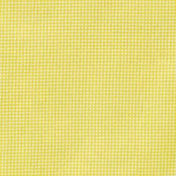 Coton jaune motif noeud papillon géométrique