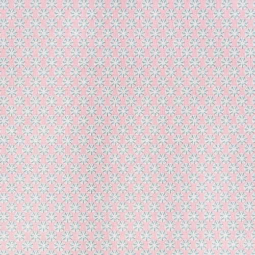 Coton sotang rose et bleu ciel