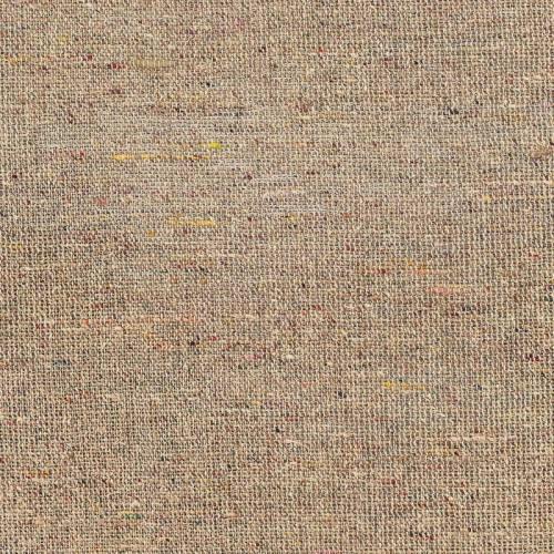 Bourrette de soie épaisse écrue et multicolore