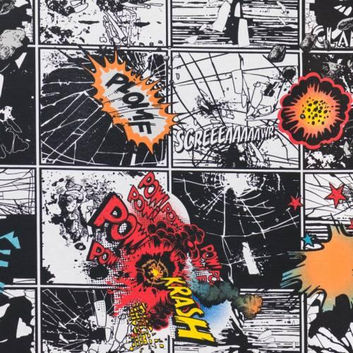 Toile polycoton imprimée bande dessinée
