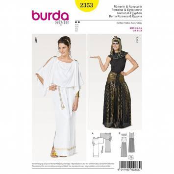 Patron Burda 2353 : Romaine et Egyptienne Taille 34-44