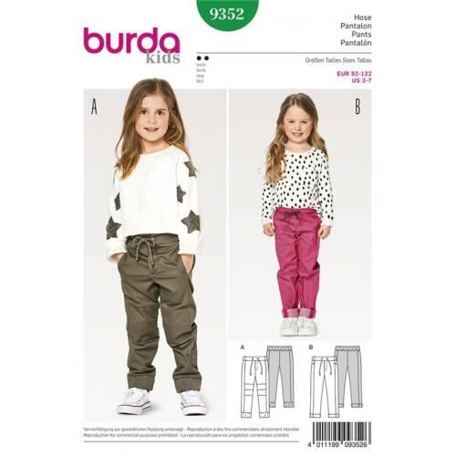 Patron Burda 9352 : Pantalon Taille 92-122 cm