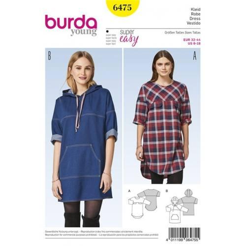 Patron Burda 6475 : Robe Taille 32-44