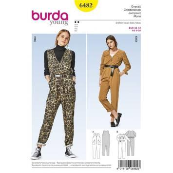 Patron Burda 6482 : Combinaison Taille : 32-42