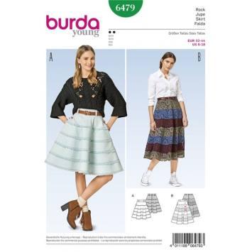 Patron Burda 6479 : Jupe Taille : 32-44