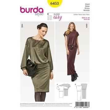 Patron Burda 6453 : Robe Taille : 34-46