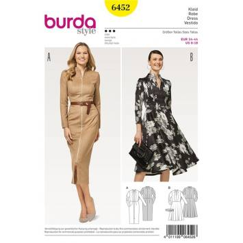 Patron Burda 6452 : Robe Taille : 34-44