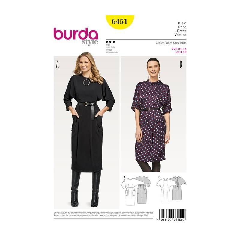0044772a71b Patron Burda 6451   Robe Taille   34-44 pas cher - Tissus Price