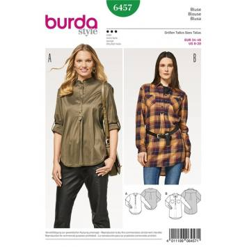 Patron Burda 6457 : Blouse Taille : 34-46