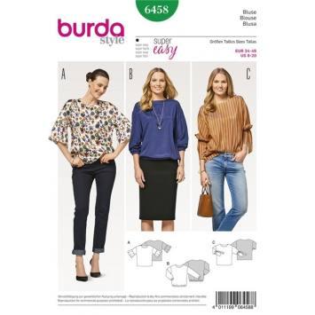 Patron Burda 6458 : Blouse Taille : 34-46