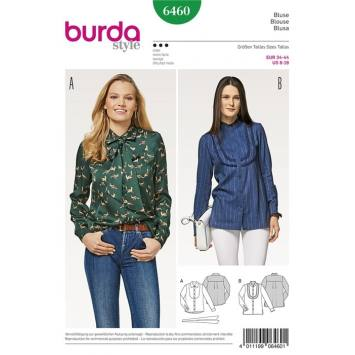 Patron Burda 6460 : Blouse Taille : 34-44