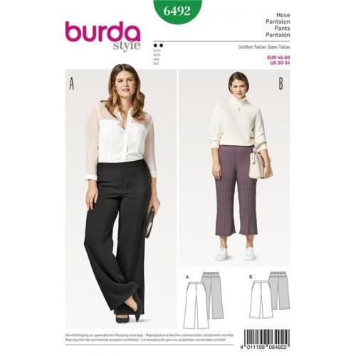 Patron Burda 6492 : Pantalon Taille 46-60