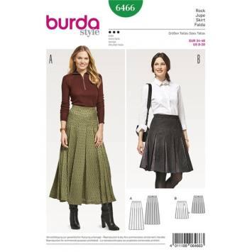Patron Burda 6466 : Jupe Taille : 34-46