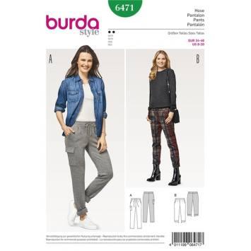 Patron Burda 6471 : Pantalon Taille : 34-46