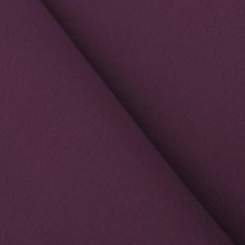 Tissu caban uni prune